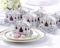 wedding photo - Cinderella's Carriage Favor Box - Set Of 24