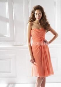 b0d7ff2229e33 wedding photo - Buy Australia Orange Short Sweetheart Neckline Pleated Bodice  Chiffon Bridesmaid Dresses by JME