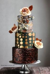 wedding photo - Spectacular Modern Wedding Cakes By Jessica MV