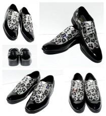 wedding photo - Men's Swarovski Crystal Leopard Wing Tip Shoes