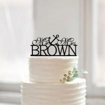 wedding photo - Nautical mr &mrs with anchor cake topper,custom mr mrs last name cake topper,rustic wedding cake topper,funny cake topper,unique cake topper