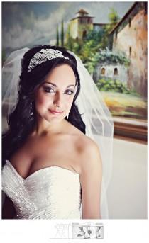 wedding photo - Romance Swarovski crystal bridal headband