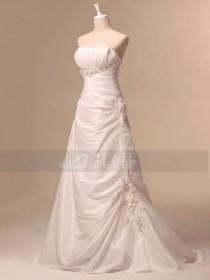 wedding photo - Slim A-line Modern Wedding Dress Chic Wedding Dress