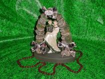 wedding photo - Redneck Hunter Mossy Camo Groom Love Deer Hunting Funny I DO Wedding Cake Topper-Green outdoor Fun Mr Love Mrs Wild Loving Rustic Toppers 4