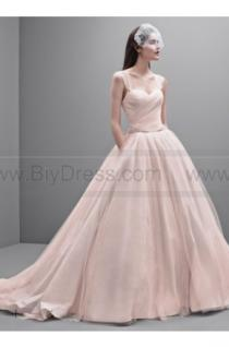 wedding photo - White by Vera Wang Taffeta and Tulle Wedding Dress VW351233