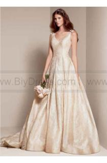 wedding photo - White by Vera Wang Floral Matelasse Wedding Dress VW351205