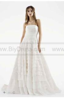 wedding photo - White by Vera Wang A-line Drop Waist Wedding Dress VW351221