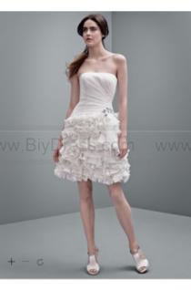 wedding photo - White by Vera Wang Short Chiffon Wedding Dress VW351216