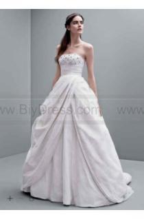 wedding photo - White by Vera Wang Taffeta Empire Wedding Dress VW351237