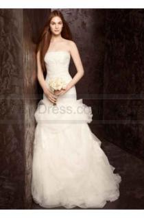 wedding photo - White by Vera Wang Floral Organza Wedding Dress VW351166