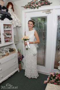 wedding photo - Crochet wedding dress. Made to order. Custom made