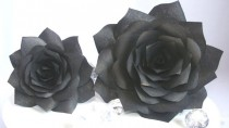 wedding photo -  Black handmade coffee filter paper Roses