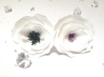 wedding photo -  Handmade coffee filter paper Anemone