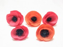 wedding photo -  Handmade coffee filter paper Poppies