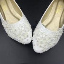 wedding photo - Flat Wedding Shoes,Lace Bridal Flat Shoes,Ivory Bridal Flats,Cream Bridal Shoes,Off-White Shoes Size 4 5 6 7 8 9 10 11 12 Size 4~12.5