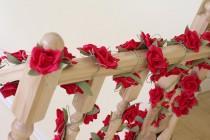 wedding photo - Paper garland, wedding garland, flower garland, wedding flower garland, paper flower decorations, paper flower garland