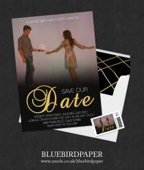wedding photo -  Romantic Movie Poster Style Photo Save the Date