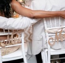wedding photo - Glitter Mr. & Mrs. Chair Sign. Wedding Chair Decor. Sparkle Mr Mrs sign. Shabby Chic Wedding