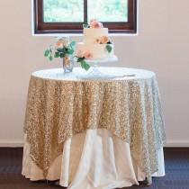 wedding photo - Sequin Tablecloth Overlays