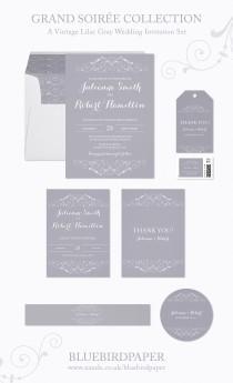 wedding photo -  Grand Soiree | A Vintage Lilac Gray Wedding Stationery