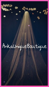 wedding photo - Cathedral veil with swarovski crystals