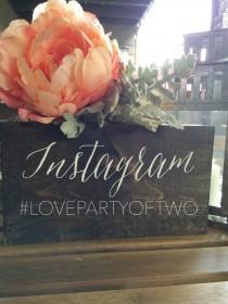 wedding photo - Instagram Rustic Wedding Hashtag Social Media Sign