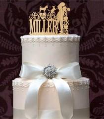 wedding photo - funny wedding cake topper,silhouette wedding cake topper,initial wedding cake topper,unique wedding Cake Topper,rustic wedding cake topper,