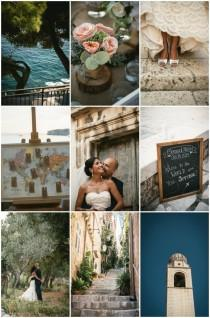 wedding photo - Romantic Travel-Themed Destination Wedding in Croatia