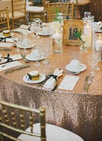 wedding photo - Sequin Tablecloth