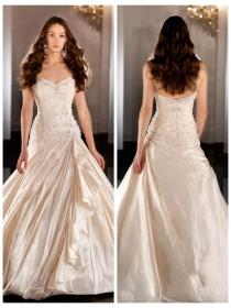 wedding photo - Sweetheart Beaded Bodice Ball Gown Wedding Dress with Ruched Skirt