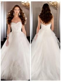 wedding photo - Sweetheart Embroideried Beading Ball Gown Wedding Dress Tulle Skirt
