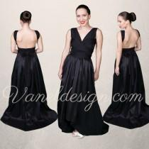 wedding photo - New Convertible Bridesmaid Dress Style!  High-Low Convertible Dress- Bridesmaids, Prom, Party, Formal Dress