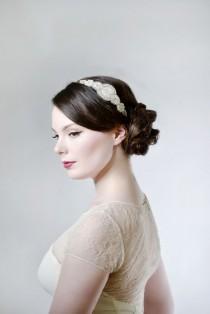 wedding photo - Antique Vintage 1920's Style Rhinestone Wedding Bridal Headpiece - Art Deco - Art Nouveau - The Great Gatsby - Vintage Wedding