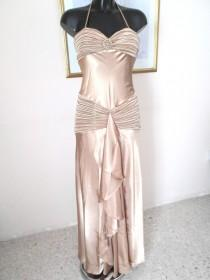 wedding photo - Prom Dress - evening dress - Stunning  gold new Faviana Couture Prom dress - Evening gown - Size M  8-10