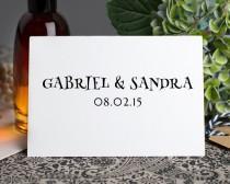 wedding photo - Save the dates, Invitations, Custom Return Address Stamp, Modern Calligraphy stamp, Custom wedding address stamp, Personalised Stamp