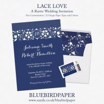 wedding photo -  Lace Love   Rustic Wedding Invitation