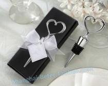 wedding photo -  Chrome Heart Bottle Stopper Bride Gift Ideas BETER-WJ001/A
