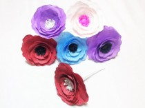 wedding photo -  Anemone's, Custom color flowers, Anemone paper flowers, Coffee filter flowers, Fake flowers, Floral arrangment flowers, Paper flowers