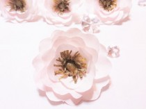 wedding photo -  Anemone, Blush and gold Paper Anemone, Paper flowers, Coffee filter flowers, Faux flower, Blush artificial flower, Floral arrangment flower
