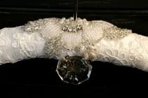 wedding photo - ROSE Lace and Beaded Wedding Bridal Bendable Dress Hanger
