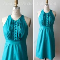wedding photo - Turquoise Teal Dress, Bridesmaid, Made to Order