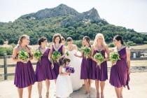 wedding photo - Bridesmaid Dress Purple - Multiway Style