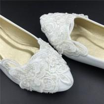 wedding photo - Vintage Lace  Butterfly Wedding Shoes,Bridal Ballet Shoes,Lace Flats Shoes,Women Wedding Shoes,Comfortable Bridal flats