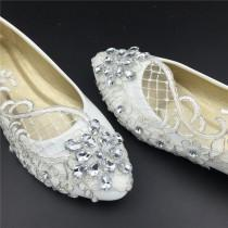 wedding photo - Wedding Flats,Bridal Ballet Shoes,Comfortable Flats,Lace Shoes Womens Wedding Shoes,Girls Wedding Shoes,Full Sizes