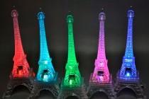 wedding photo - Centerpieces LED Eiffel Tower Light Up Statue Mulit-Color Changing Wedding Centerpiece, Cake topper, event decor