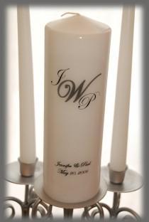 wedding photo - Personalized Monogram Unity Candle SET, wedding candles, weddings, wedding decorations