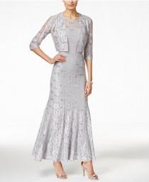 wedding photo - Alex Evenings Sequin Lace Mermaid Gown and Jacket