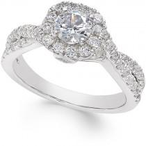 wedding photo - Diamond Twist Engagement Ring (1-1/4 ct. t.w.) in 14k White Gold