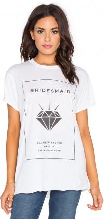 wedding photo - The Laundry Room Bridesmaid Label Rolling Tee