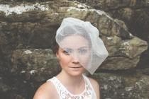wedding photo - Short Veil, Birdcage Veil, Dotted Headpiece, Tulle Veil Blusher, Wedding Short Veil, Bridal Veil, Dotted Veil, Blusher Veil- Style 201- Aria